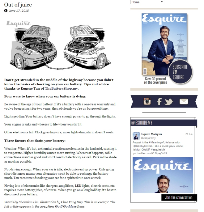 Esquire Screenshot