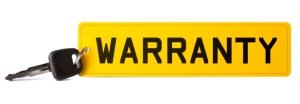 Warranty on car registration plate keyring